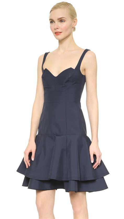 lyst ricci sleeveless dress navy in blue