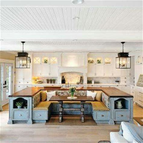 country kitchen islands with seating how gorgeous is this country kitchen an island that also
