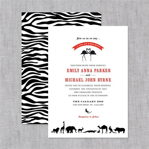 Zoozoo Wedding Card Design by Invitation Zoo Choice Image Invitation Sle And
