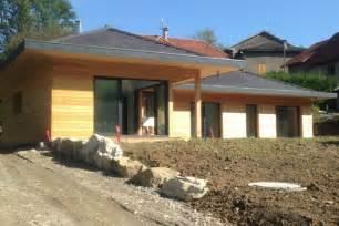 maison ossature bois plain pied mzaol