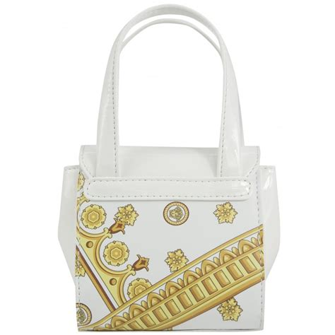 With Versace Purse by Versace White Handbag With Gold Detailing