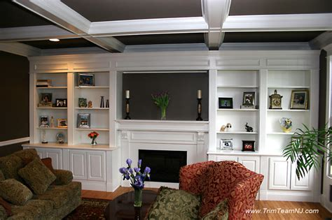 build a living room galeria bookcases wall unith built ins shelving