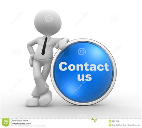 Contac Person contact us stock photo image 29374720