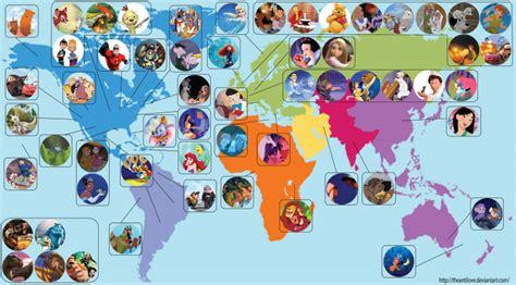 film disney pixar terbaru une carte des endroits o 249 se passent les films disney et pixar