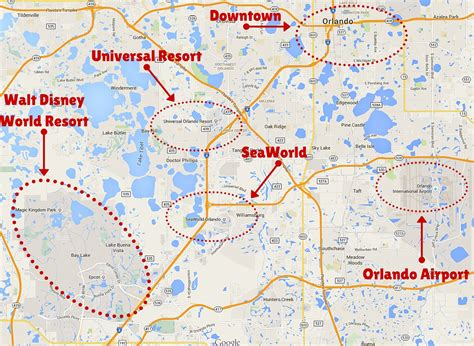 themes park in orlando map of orlando theme parks my blog