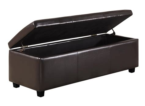 amazon storage bench amazon com simpli home avalon rectangular faux leather