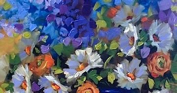 new year flowers joyful blooms artists of contemporary paintings and new