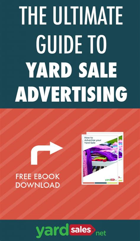 Where To Advertise Garage Sales by The Ultimate Guide To Advertising A Yardsale Free Ebook