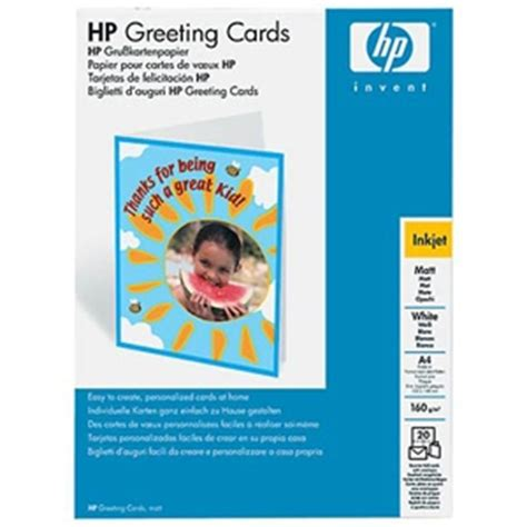 hewlett packard printable greeting cards hp matte quarter fold greeting cards c1812a at
