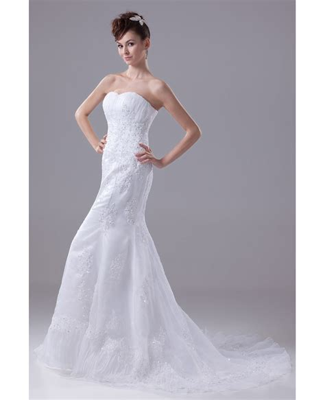 beaded lace wedding dress beaded lace sweetheart fitted mermaid organza wedding