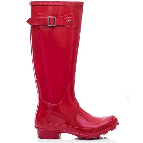 matte black wellies raya adjustable buckle flat festival wellies boots