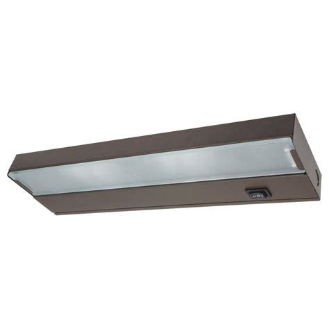 Xenon Light Fixtures 12 5 In Xenon Bronze Low Profile Cabinet Light Fixture 10351ob The Home Depot