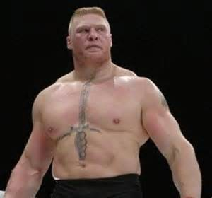 brock lesnar sword tattoo brock doesn t want to play anymore from the guard
