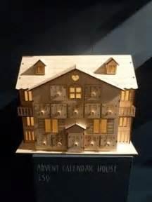 lighted santas workshop wooden advent calendar