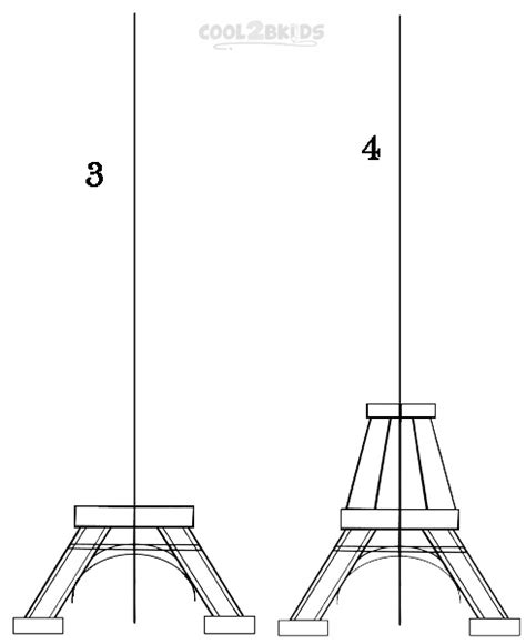 how to draw the eiffel tower step by step pictures