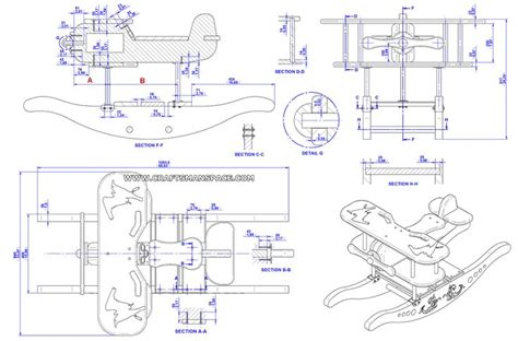 wooden rocking airplane plans woodworking projects plans
