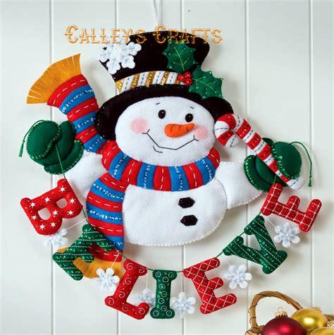 bucilla felt kits snowman believe bucilla felt wall hanging kit 86333 fth studio international