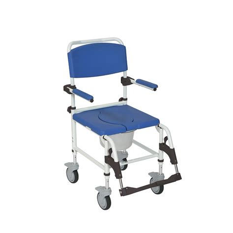 Med Transport Chair drive aluminum shower commode transport chair
