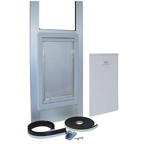 patio door doggie door pet patio door sliding glass medium cat silver aluminum flap easy fit new ebay