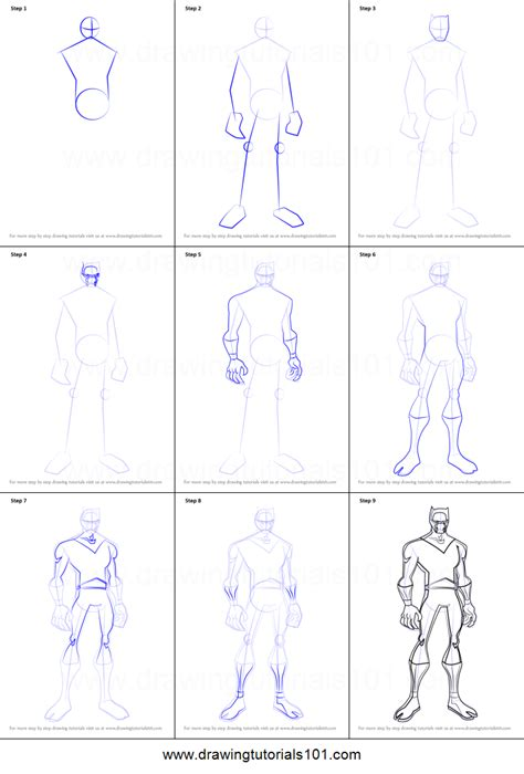printable heroes tutorial how to draw black panther from the avengers earth s