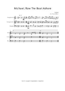 michael row the boat ashore score michael row the boat ashore by folklore sheet music on