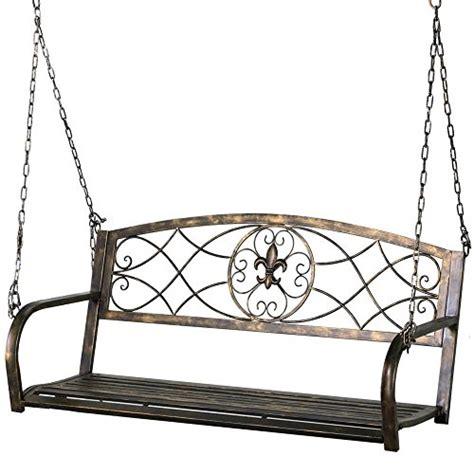 metal bench swing metal swing bench