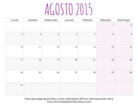 Calendario Agosto 2015 Para Imprimir Me Encantaron Estos Calendarios 2015 Para Imprimir Tienen