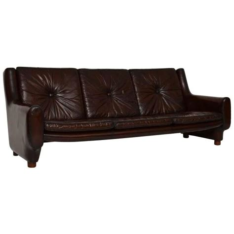 Retro Argentinian Leather Sofa Vintage 1960s At 1stdibs Leather Retro Sofa