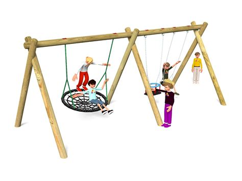 flat swing flat cradle nest swing accessible playground swings