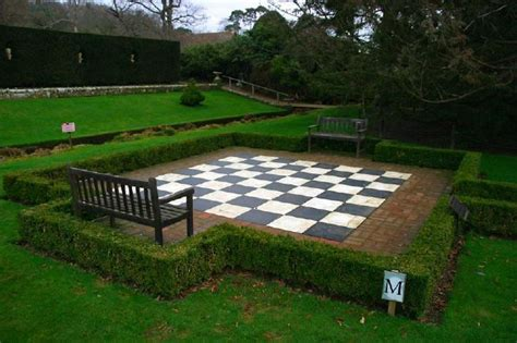Giant Chess board in a formal Country House Garden