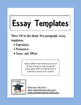 a writers guide powerful paragraphs expository persuasive cause effect fill in the blank