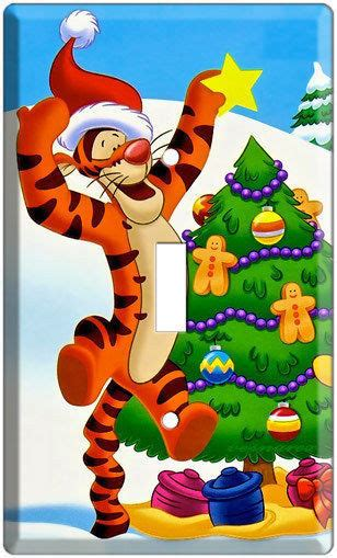 winnie the pooh holiday light tigger winnie the pooh decorating tree light switch cover wall plate ebay