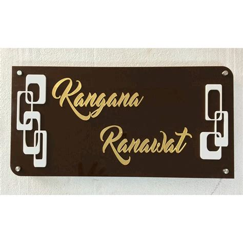 design home name plates kangana acrylic name plate buy kangana acrylic name