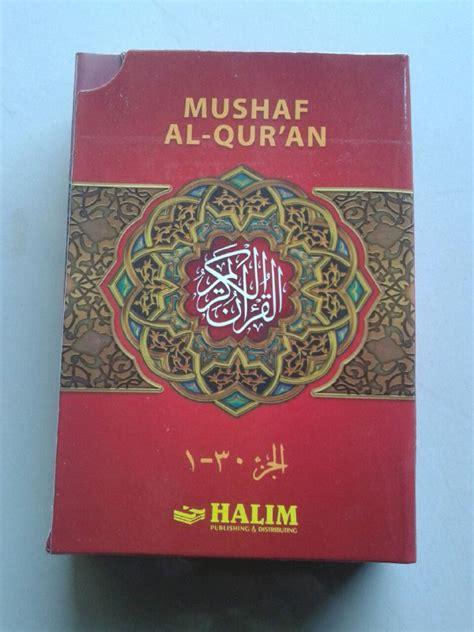 Sale Al Qur An Hafalan Per 5 Juz Termurah 1 al qur an mushaf halim nur jeddah per 5 juz set 6 jilid