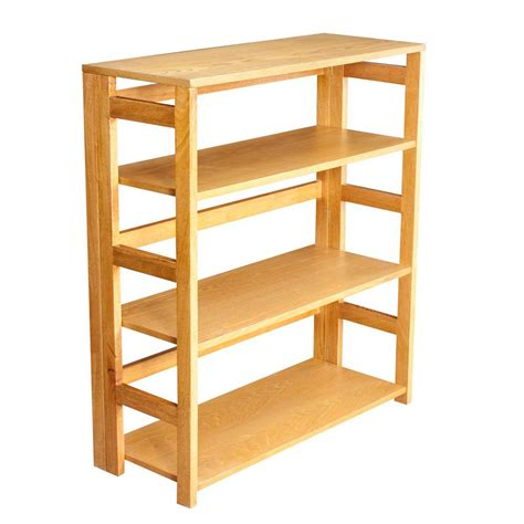 folding bookcase 3tier bamboo stackable folding bookcase