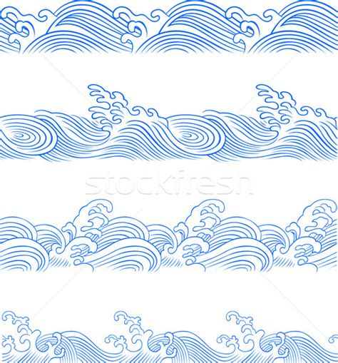 seamless ocean wave vector illustration 169 sau kit lai