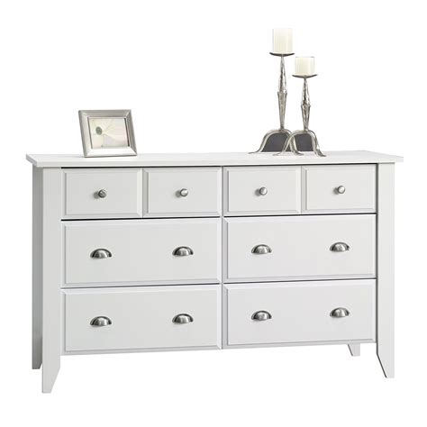 White Bedroom Dresser Large Bedroom Dresser Storage Drawer Modern 6 Wood Chest Of Drawers White Brown Ebay