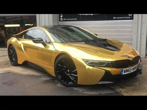 bmw i8 gold master ov gets his car wrapped gold youtube