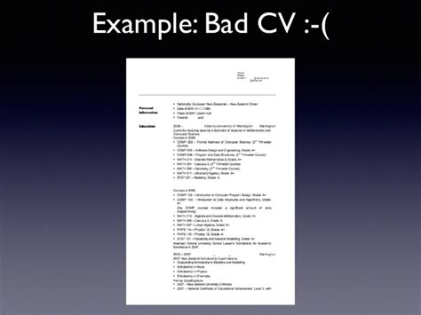 exle of a bad resume exle of a bad resume 28 images what to write in the