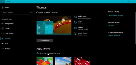 pc themes net windows 10 tip personalize your pc with new themes in the