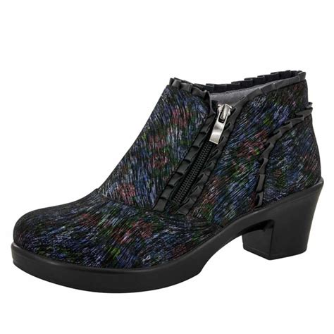 alegria shoes hannah raked garden ankle boots  shipping