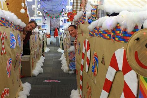 hospital transforms office into giant gingerbread house
