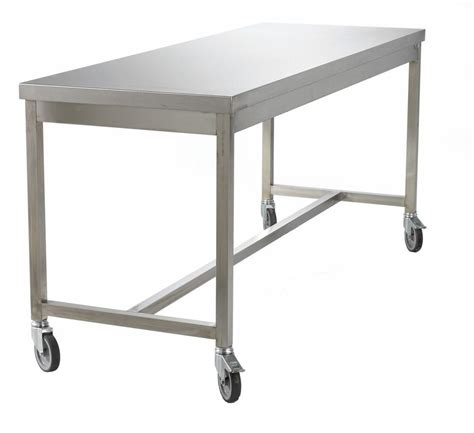 stainless steel table with casters stainless steel work table on casters 78393 147803 jpg 983