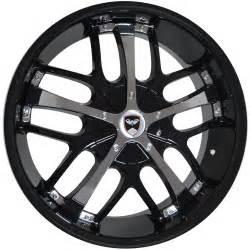 2006 Kia Optima Rims 4 Gwg Wheels 18 Inch Black Chrome Savanti Rims Fits Et40
