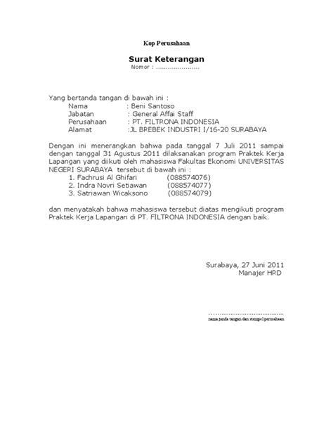 Contoh Surat Balasan Pkl Perusahaan Surat 27 Madreviewnet