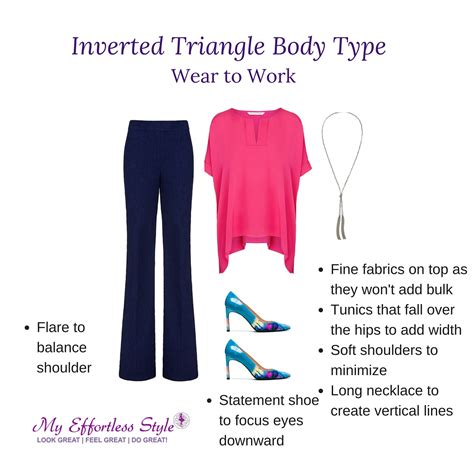what inverted triangles shouldnt wear how to dress the inverted triangle body type my