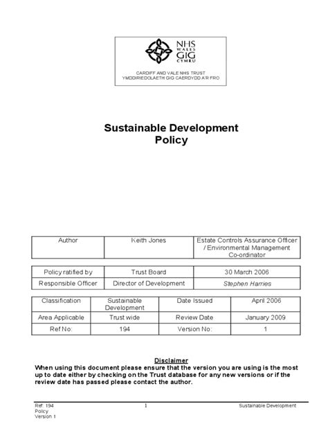 sustainability policy template sustainability policy template 2 free templates in pdf