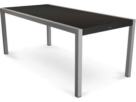 aluminum patio dining table polywood 174 mod aluminum rectangular patio dining table 8320