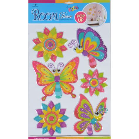 fantastic room wall decor stickers butterflies dinosaurs