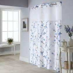 Cherry blossom 2 pc fabric shower curtain amp liner set